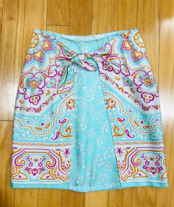 $59 Sz 4 McLaughlin silk skirt