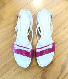 $20 Size 7.5 Pink and White aerosols sandals