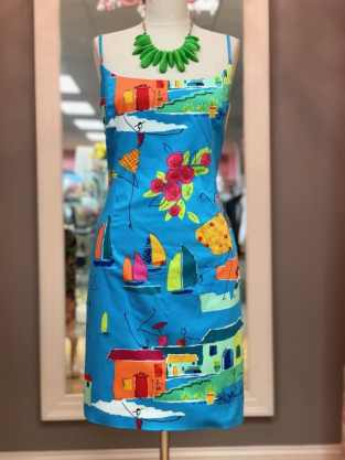 $25 size 10 bright pattern dress