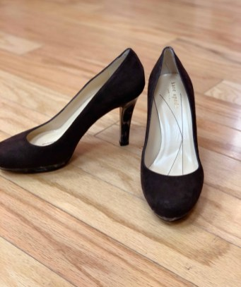 $45 size 6 Kate Spade brown and animal print heel