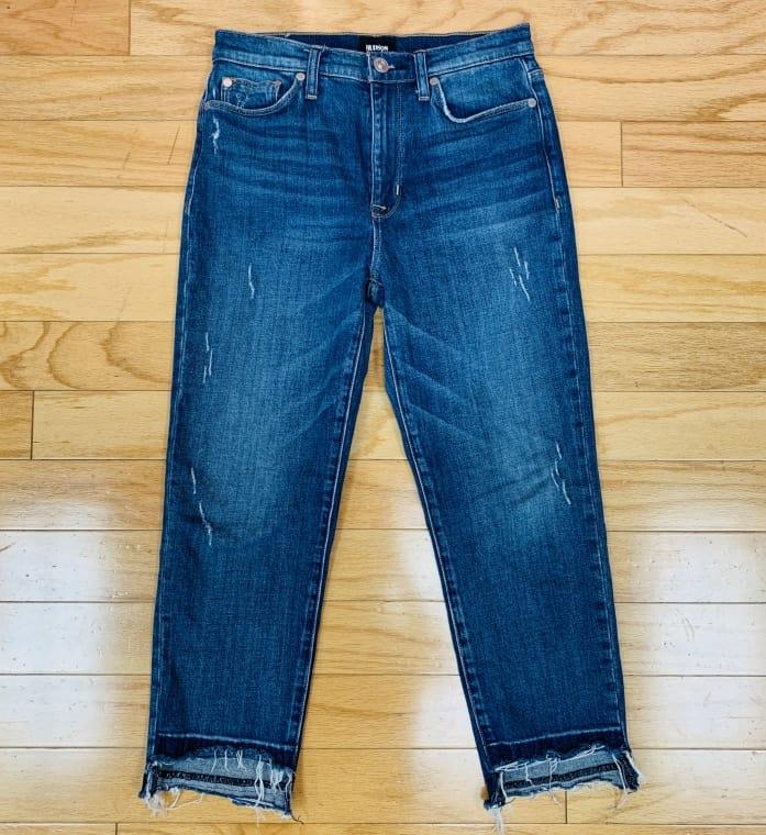 Distresses Hudson Capri jeans Size 4 $29