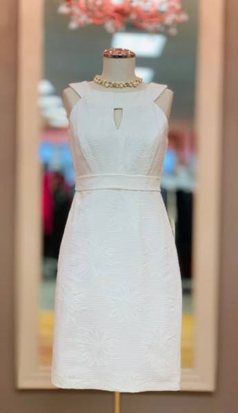 White textured Jax dress Size 2 $39