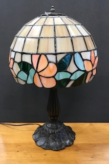 Hand crafted stained glass lamp $175