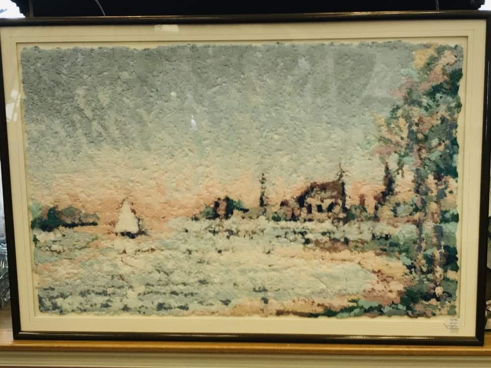 Original art made of handmade and hand colored paper $150