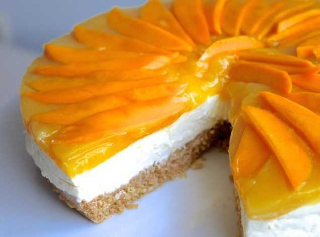 No-Bake Mango Cheese Cake Recipe