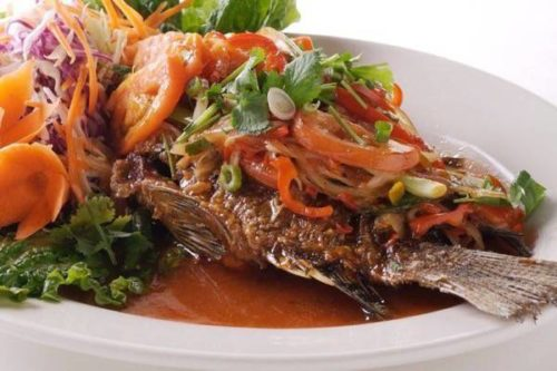 Fried Tilapia (With Tomato Sauce) Recipe