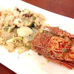 Lobster with Onion & Ginger