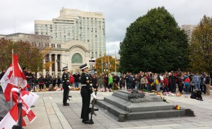 Crowds gather to pay respects