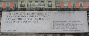 Geneva unanimously chosen as seat of League of Nations