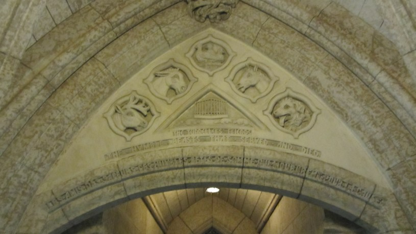 The Tunnellers' Friends greet visitors to the Memorial Chamber