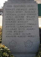 Names on north side of monument
