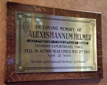 Helmer's death inspired In Flanders Fields