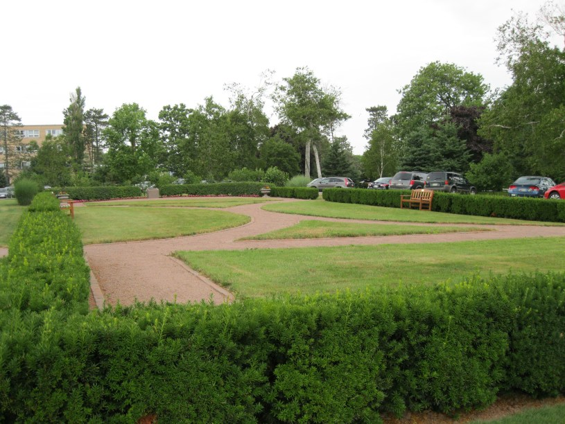 Rena McLean Memorial Garden was designed as a parterre, a quiet place for reflection.