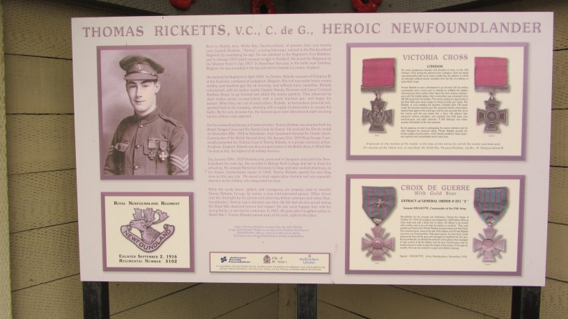 Newfoundlanders remember their war hero, Tommy Ricketts