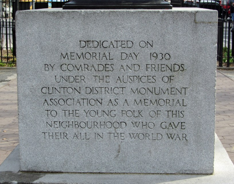 Dedication of Clinton War Memorial