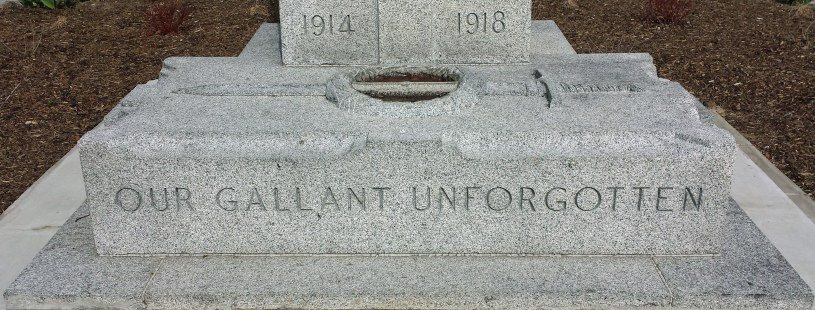 Dedicated to our gallant unforgotten