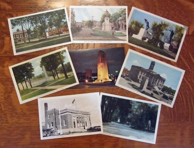 Lindsay, Brockville, Peterborough, Midland, Windsor, Kitchener, Burks Falls & Hawkesbury War Memorials