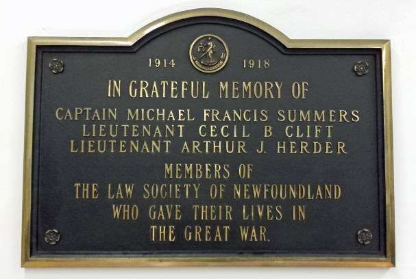 Plaque in Supreme Court remembers fallen lawyers, St. John's