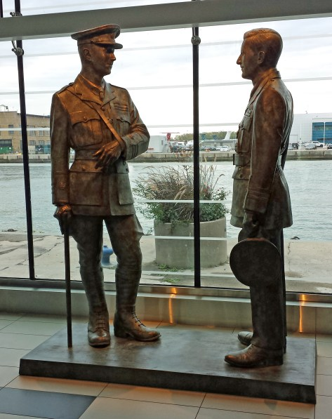 William Barker and Billy Bishop, with Toronto Island behind