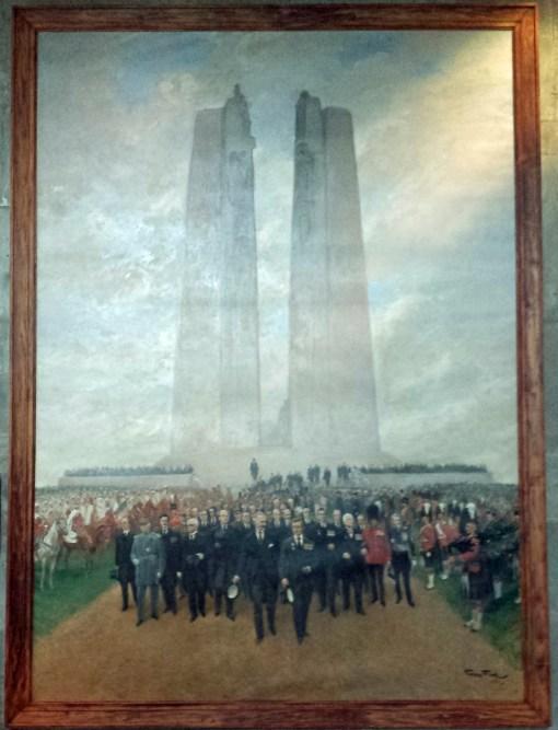 Unveiling Vimy Ridge Monument, Georges Bertin Scott