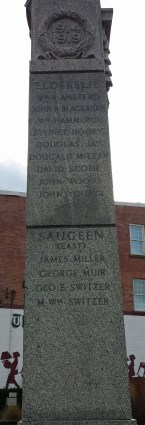 Names from Elderslie and Saugeen Townships