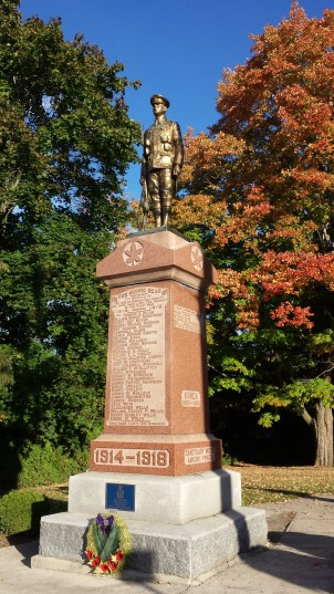 Durham, Ontario war memorial lists 36 names from WW1