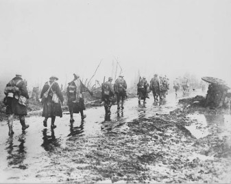 Troops leaving the trenches during the Battle of the Somme, 1916.