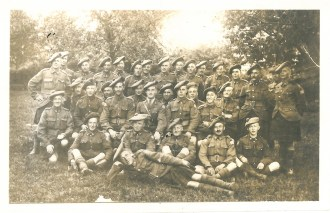 """""""Dumbell Platoon, 42nd Battalion CEF"""" Sgt Edwin Stewart Turner enlisted in 1914, and by the end of the war was a lieutenant."""
