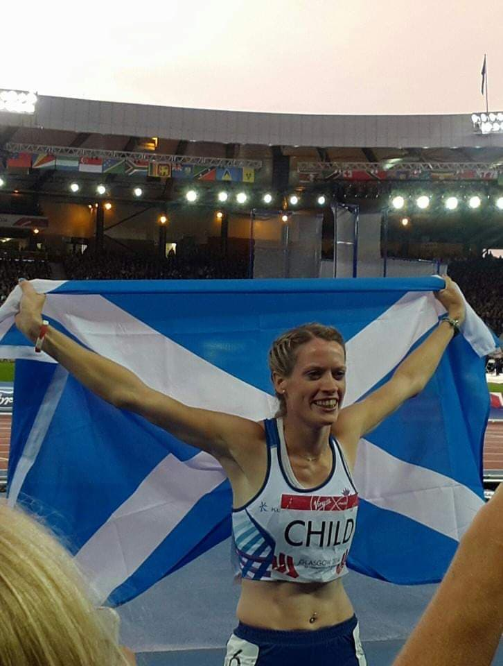Commonwealth Games 2014 - Scotland Athlete with the Saltire