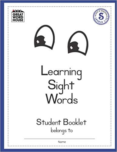 Learning Sight Words Student Booklet