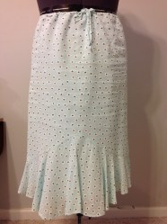 A-line cotton lawn skirt with flounce