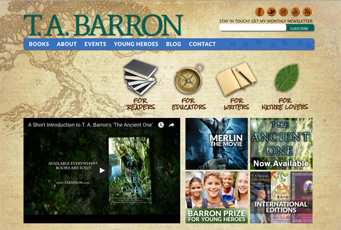 TA Barron Web Site