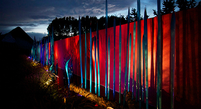 Chihuly at Denver Botanic Gardens at Night