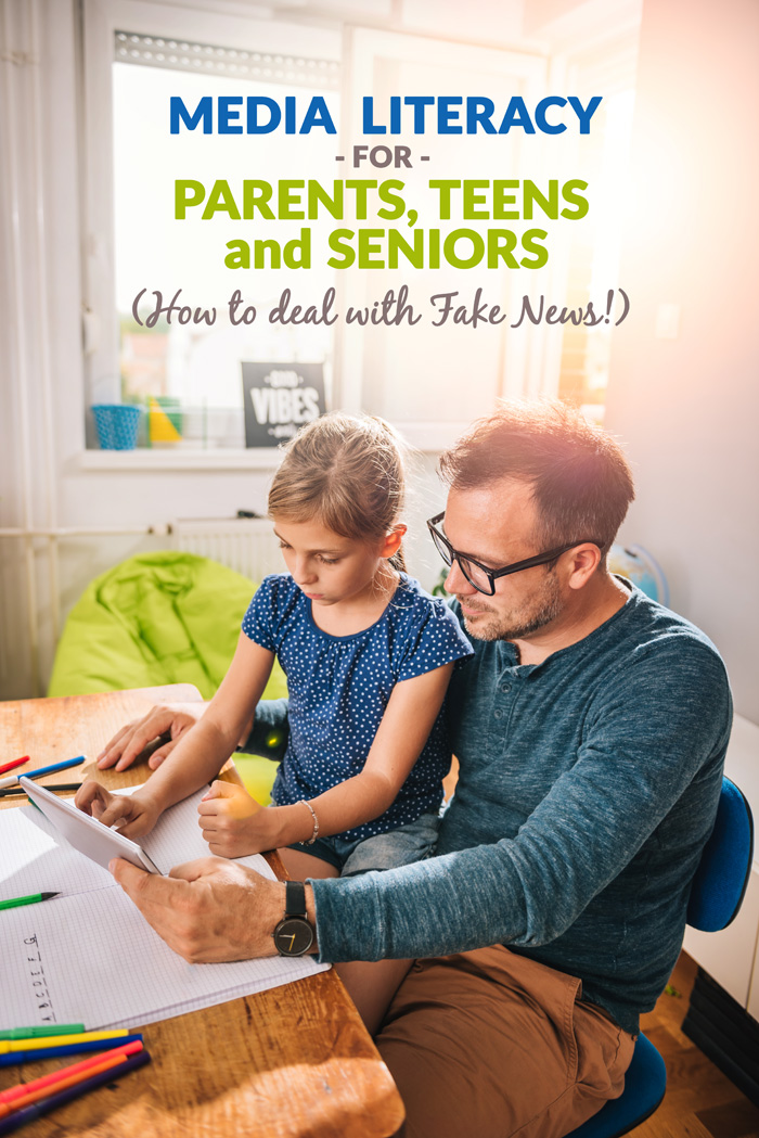 Tips for parents, teens and senior citizens on learning media literacy and dealing with fake news on social media.