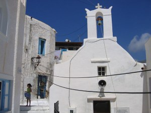 church in Hora in ios