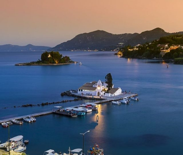 Pontikonisi It Is Synonymous With The Image Of Corfu One Of Its Most Famous Landscapes And The One Found In The Lyrics Of Multiple Songs