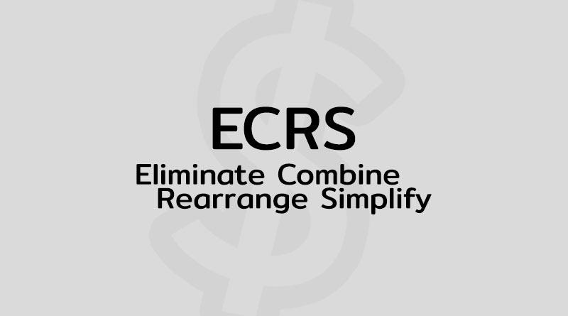 ECRS คือ ทฤษฎี ECRS วิจัย ตัวอย่าง ECRS