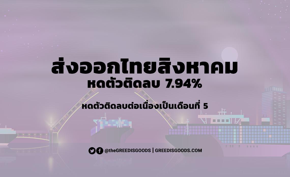 ส่งออกไทย สิงหาคม 2563 ติดลบ
