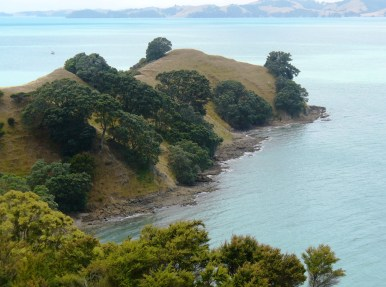 The old Pā site at the point - stunning