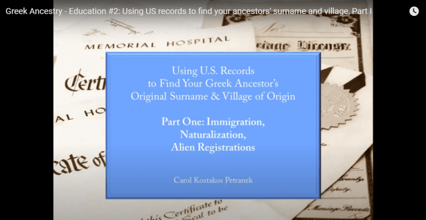 Greek Ancestry Education, #2: Using US records to find your ancestors' surname and village