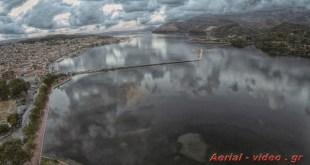 Αργοστόλι Κεφαλονιά η λίμνη μετά την καταιγίδα Argostoli Kefalonia lake after storm footage