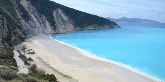 Παραλία Μύρτος Κεφαλονιά Beach Myrtos Kefalonia