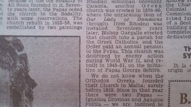 An extract from the Times of Malta of today, 28/03/2016, a reprinting of an article which appeared exactly 50 years ago.