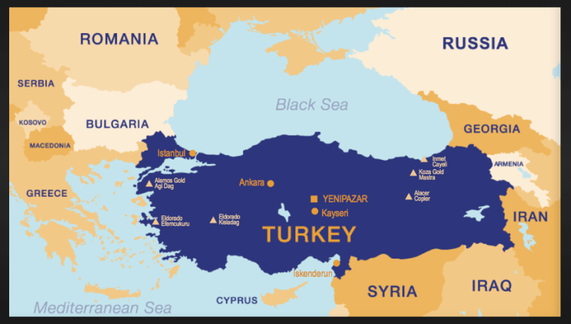 Turkey and its many Geographic Neighbours