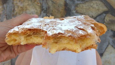 This is bougatsa, cream filled pastry served in the morning. This was the most iportant thing for me to try. I left the trip having eating about 8 of them. Not enough though.