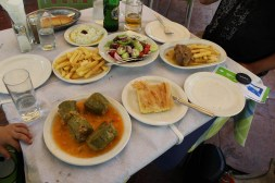 Our first meal in Greece. A nice food break between all the driving!