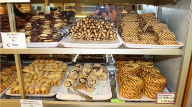 Not your typical selection of Greek confection. Tasty chocolate!