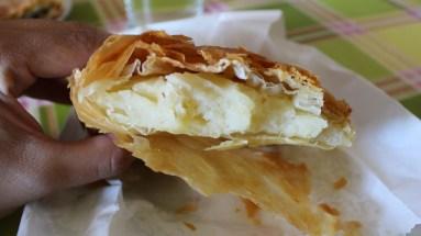A very crispy bougatsa from Molao.
