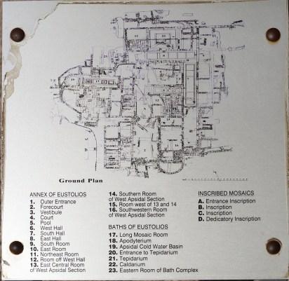 Kourion - Baths of Eustolios Plan