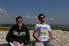 Kourion - Dan and Vic on the top of the theater